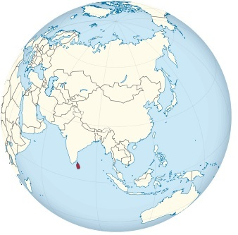 Sri Lanka on the globe (Asia centered).svg
